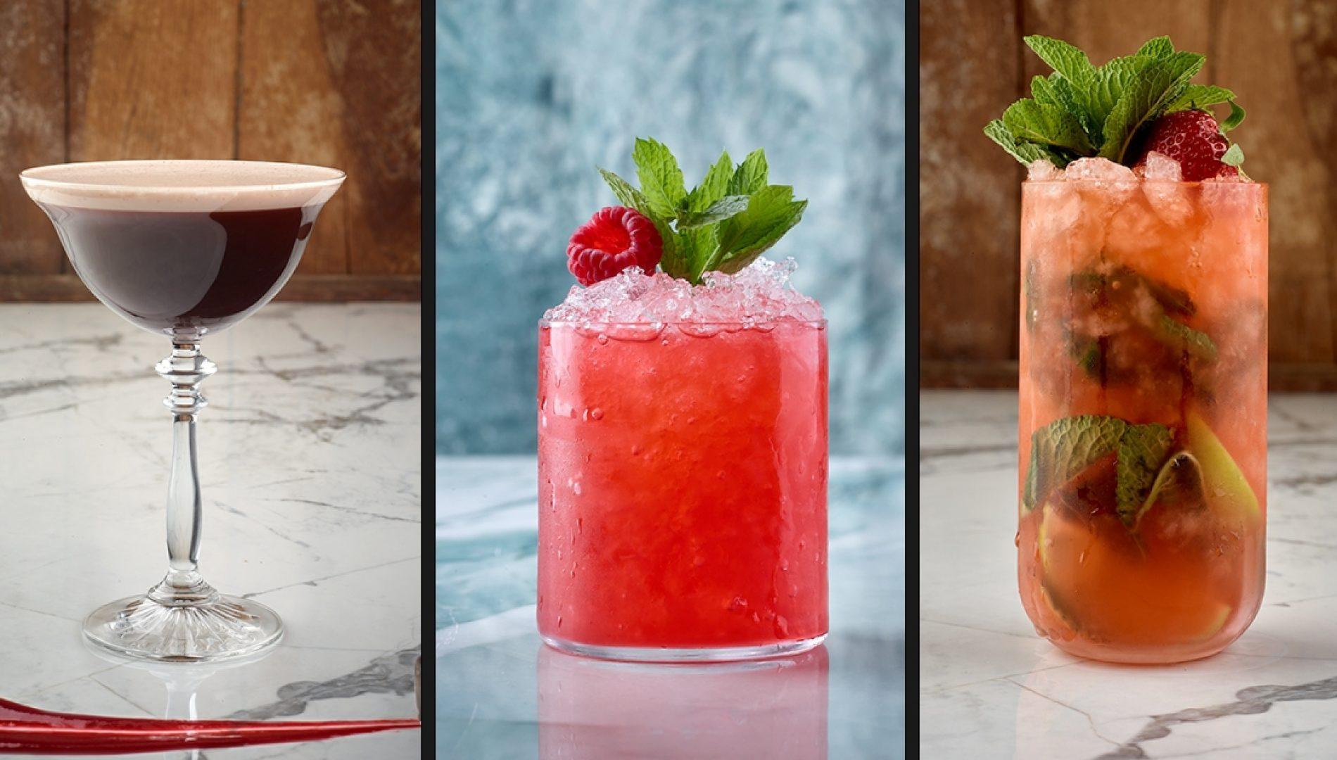 Verschillende soorten cocktailglazen